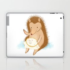 Hedgehog stitching a hedgehog Laptop & iPad Skin