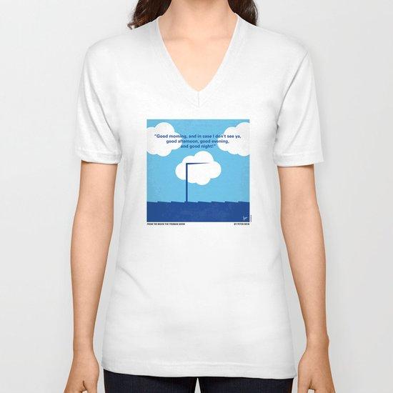 No234 My Truman show minimal movie poster V-neck T-shirt