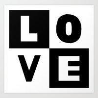 Love Black Art Print