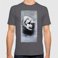 Woman in Black Mens Fitted Tee Asphalt SMALL