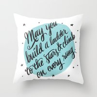 A LADDER TO THE STARS Throw Pillow