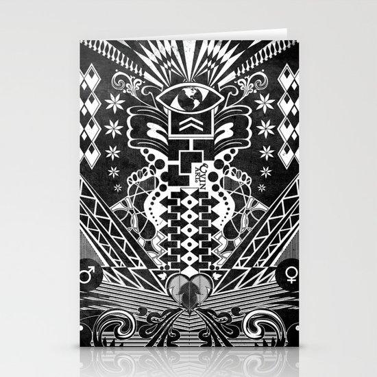 Insane Black & White Stationery Card