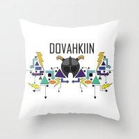 Skyrim: The Dovahkiin - BLUE Throw Pillow