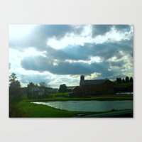 Home Grown Rays Of Light Canvas Print