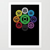 Living In Colour Art Print