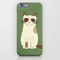 iPhone & iPod Case featuring Grumpy Cat by madeline audrey