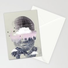 Contemplating Dome Stationery Cards