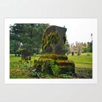 Northwest Cemetery Art Print