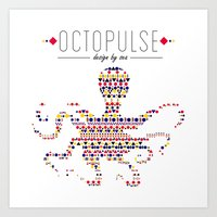 Octopulse | Design by sea Art Print
