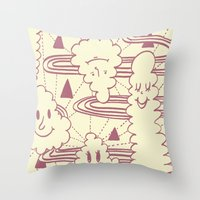 Cream Puff Throw Pillow