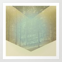 Chevron Forest Art Print