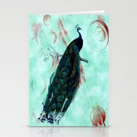 peacock Stationery Cards featuring Peacock by SuzanneCarter