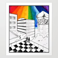 Everyone Became Part Of … Art Print