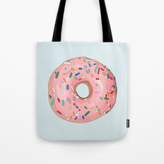 Strawberry Frost Donut Tote Bag