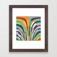 Rainbow Bricks Framed Art Print
