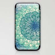 iPhone & iPod Skin featuring Emerald Doodle by Micklyn