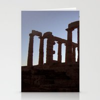 Temple Of Poseidon Stationery Cards
