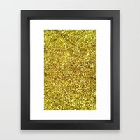 GOLD GLITTER Framed Art Print
