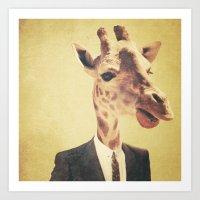 Humanimal: Giraffe  Art Print