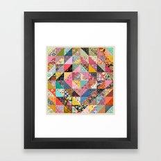 Grandma's Quilt Framed Art Print