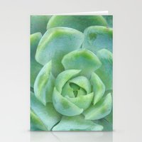 Succulent Harmony Stationery Cards