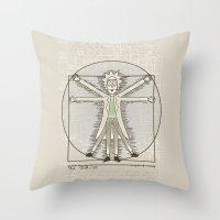 Virtruvian Rick Throw Pillow