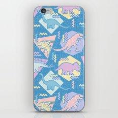 Nineties Dinosaurs Pattern  - Pastel version iPhone & iPod Skin