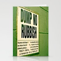 Rubbish Stationery Cards