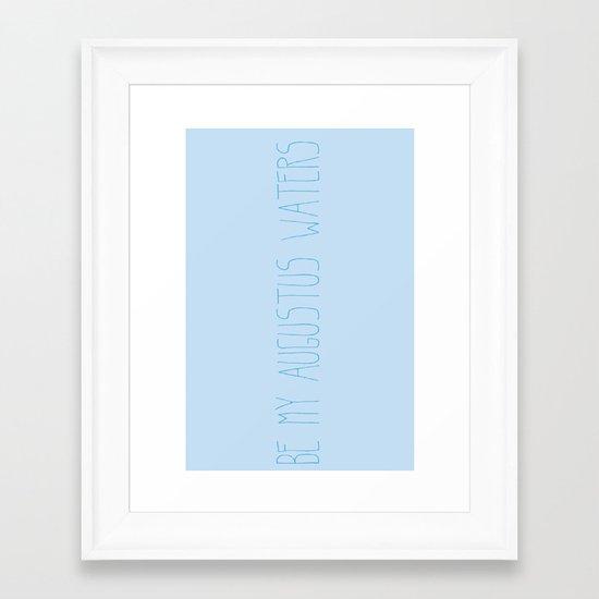 Augustus Waters Framed Art Print