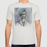 Bearded Mens Fitted Tee Silver SMALL