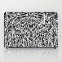 Abstract Lace on Black iPad Case