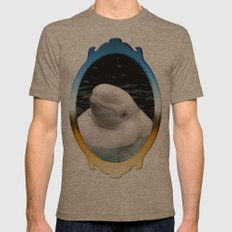 Beluga Whale Mens Fitted Tee Tri-Coffee SMALL