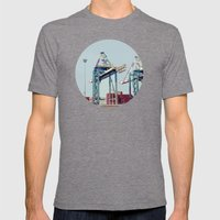 The Port Mens Fitted Tee Tri-Grey SMALL