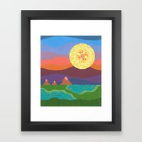 Sunset Mountains Framed Art Print