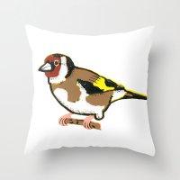 Goldfinch - European Goldfinch Throw Pillow
