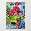 Floral Frog Canvas Print