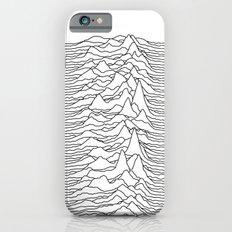 Unknown Pleasures - White iPhone 6 Slim Case