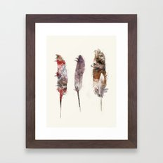 peace feathers Framed Art Print