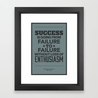 Success Framed Art Print