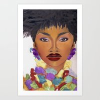 Naomi Cambell - Vogue Art Print