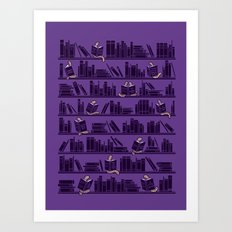 Bookworms Art Print
