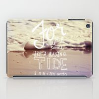 He will come like a raging tide iPad Case