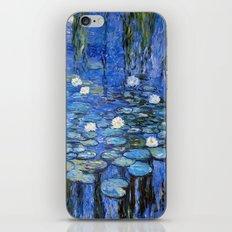 water lilies a la Monet iPhone & iPod Skin
