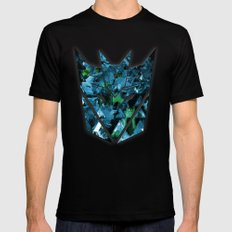 Decepticons Abstractness - Transformers Mens Fitted Tee Black SMALL