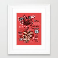 How to not be a Lady Framed Art Print