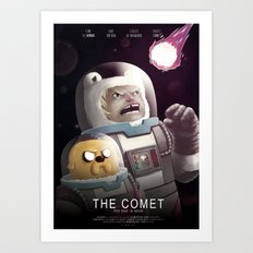 The Comet - Time for adventure in space Art Print
