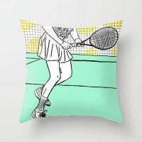 Gabi Sabatini Throw Pillow