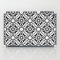 Black and white geometric iPad Case