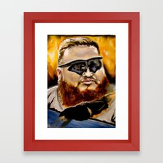 action bronson Framed Art Print