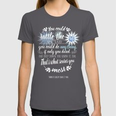 Throne of Glass by Sarah J. Maas Book Quote - Rattle The Stars Womens Fitted Tee Asphalt SMALL